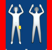 "Generic ""stick"" figure image from full body scanner"