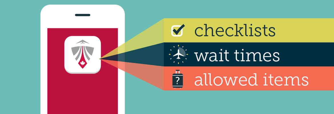 Mobile app: Checklists, wait times and allowed items list